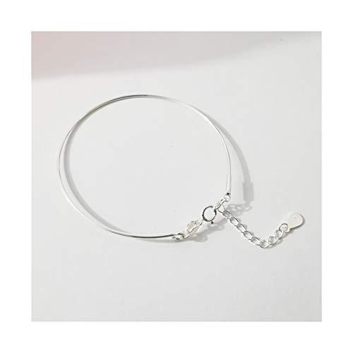 AiKoch Sterling Silver Mujeres Anklets Pulsera Plana Snake Cadena Pie Jewelry Sandalias Sandalias Descalzos Universal (Color : Silver)
