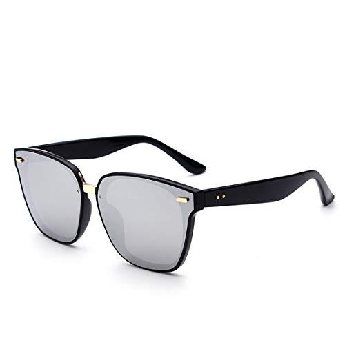 XIAOTANBAIHUO Anteojos Clase superior Remache Decoración Lente de color Ojos de gato Gafas de sol Protección UV Para mujeres Gafas de sol Protección UV Gafas de seguridad (Color : Sliver)