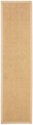 carpetfine Sisalteppich Läufer Beige 75x300 cm | Moderner Teppich für Wohn- und Schlafzimmer