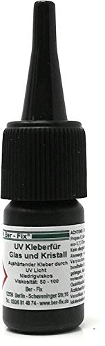 Ber-Fix UV-lijm dunvloeibaar voor glas met glas of metaal 250g Zonder uv-lamp.