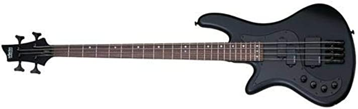 Schecter Stiletto Stealth-4 Left-Handed Electric Bass Satin Black