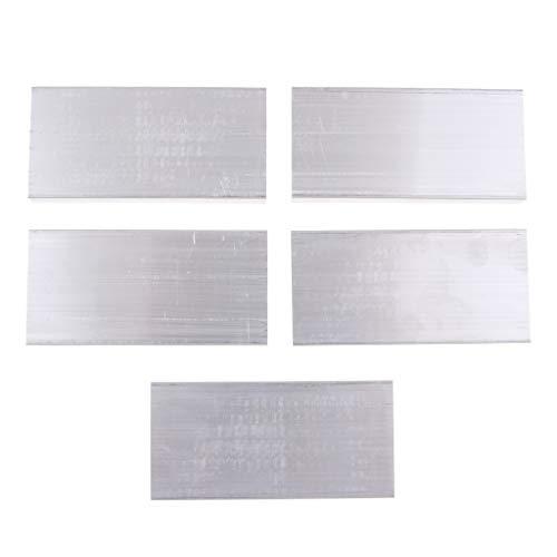 5 Paquete 48 x 11 x 100 mm Aleta de Enfriamiento, Radiador de Aluminio de Disipador de Calor para CPU RAM IC Led Amplificador de Potencia