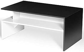 IDMarket - Table Basse GABI Blanche et Noire multirangements