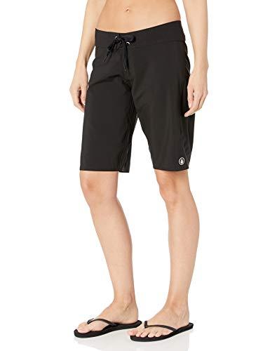 Volcom Damen Badeshorts Simply Solid 11 Zoll, Black, 7, O0811705