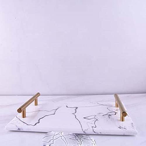 Juego de accesorios de baño de resina de lujo, 5 piezas, juego de 5 piezas de resina con textura de mármol blanco nórdico kit de baño dispensador de jabón bandeja de almacenamiento