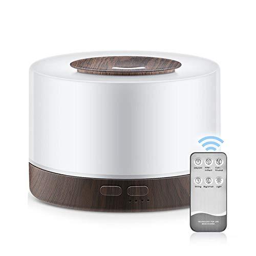ASIAKK Aromatherapie Luftbefeuchter Diffuser,Ultraschall 700 ml, Ultra Leise mit,7 Farben LED,Aroma Diffuser mit Fernbedienung,für Raum,Büro,Yoga