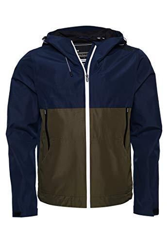 Superdry Herren TECH Colourblock Elite Jacke, Blau (Nautical Navy 09S), X-Large