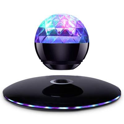 Black Magnetic levitation Colorful Lights Wireless Bluetooth Speaker Portable Mini Speaker Phone Computer Audio Creative subwoofer