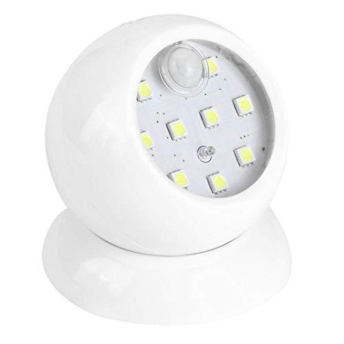 Mini 9 LED bewegingssensor licht 360 ° roterende menselijke inductie lamp Indoor stap gang garderobe kast garderobe nachtlampje