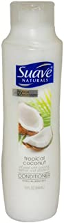 Suave Tropical Coconut Infused with Coconut Extract and Vitamin E Conditioner for Unisex, 15 Ounce