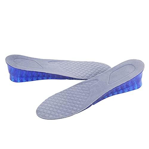 XZJJZ Dos Capas Altura Aumento Plantillas Suave Gel Almohadilla Almohadilla Almohadilla Almohadilla Creciente Zapatos Hombres Mujeres 3 cm 5 cm (Size : EU 40-45)