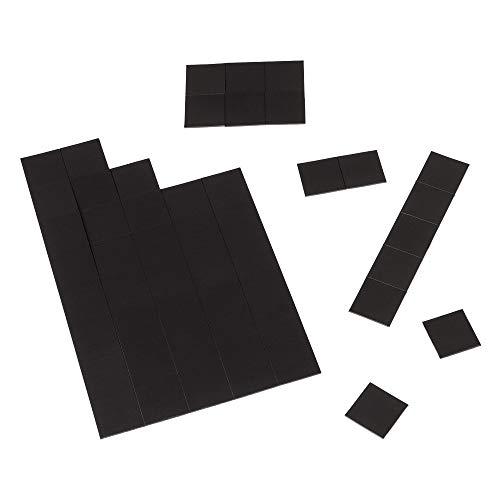 ECENCE 100x mini láminas magnéticas fuertes de 20x20mm autoadhesivas, para una sujeción...