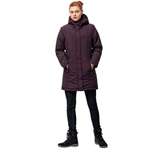 Jack Wolfskin Damen Jacke Svalbard Insulated Long Jacket, Damen, burgunderfarben, Small