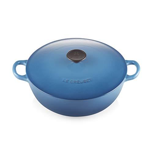 Le Creuset Marmite à soupe en fonte émaillée avec couvercle Ø 26 cm Bleu Marseille 25074280600460