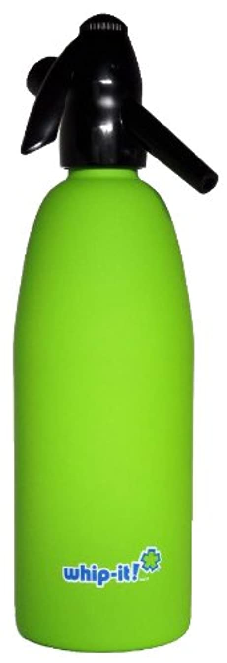 Whip-It 1-Liter Soda Siphon, Rubber Coated, Lime