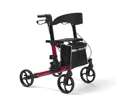 Rollator für ältere Menschen Leichtgewichtrollator faltbar | Maximale Belastbarkeit 136 kg | Qualitätsgarantie | QUAVA Vermeiren