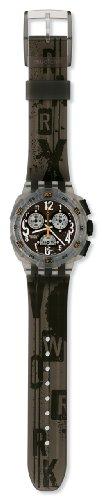 Swatch SUIM100 - Reloj analógico de caballero de cuarzo con correa de silicona gris