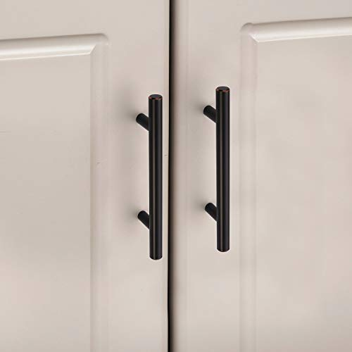 Amerdeco IH0001ORB76 10 Pack Oil Rubbed Bronze 3Inch(76mm) Hole Centers Kitchen Cabinet Pulls Hardware Modern Kitchen Solid Handles for Cabinets Cupboard Handles Drawer Pulls