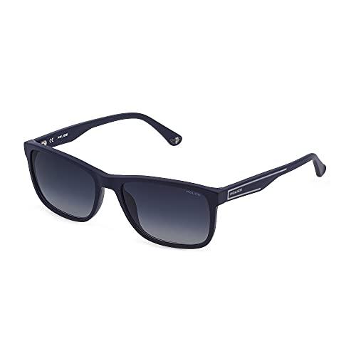 Police Gafas de sol Arcade 2 SPLB40N 0C03 56-17-140 Unisex Azul Mate Lentes Azul Gradient
