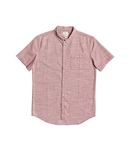 Quiksilver Men's FIREFALL Short Sleeve Woven, Redwood, XL