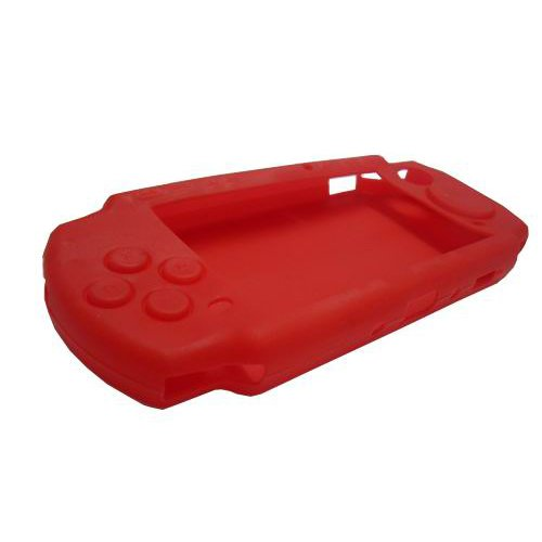 OSTENT Soft Protector Silicon Travel Carry Case Skin Cover Pouch Sleeve Compatible for Sony PSP 2000/3000 Color Red