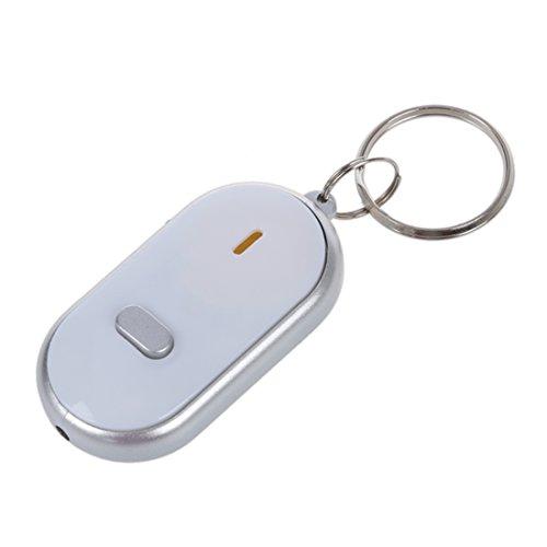 SODIAL(R) Localizador Descubridor para Llave Cartera Blanco LED Control de Sonido Anti-Perdida...