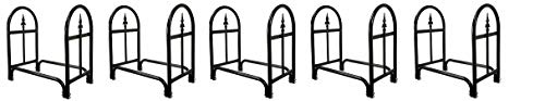 Why Choose Pure Garden 50-127 Fireplace Log Rack with Finial Design, Black (5)