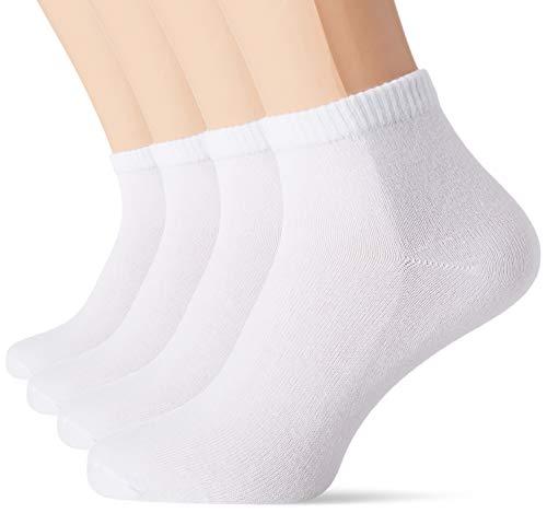 s.Oliver Socks Damen S21007 Füßlinge, 4er Pack, Weiß (White 1000), (Herstellergröße: 35/38)