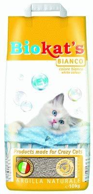 Biokat's Arena Lit pour chats Blanc classique 5 kg Antibactérien et Absorbant 100 %