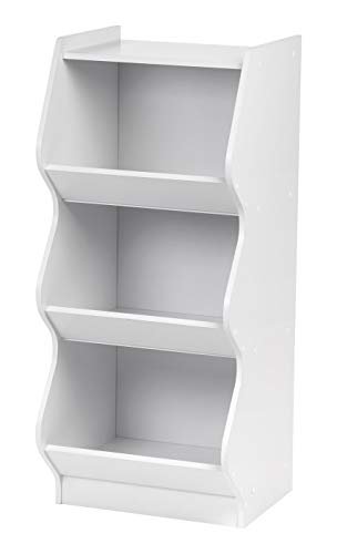 IRIS 3 Tier Curved Edge Storage Shelf, White