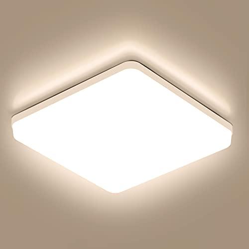 Plafoniera LED Soffitto Quadrata 36W Moderna Plafoniere da Soffitto Ketom Bianco Neutro 4500K Ultra Magro Pannello LED Ø23CM 3240LM IP44 Lampada da Soffitto per Corridoio, Bagno, Camera da letto