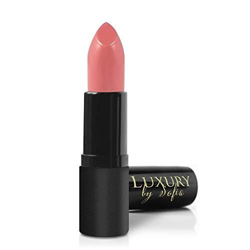 All Natural Lipstick, Semi Matte Lip Color, Moisturizing Lipstick, Non Toxic, Non GMO, Highly Pigmented, Long Lasting Lipstick, Vegan Makeup for Women (Faith) - Luxury by Sofia