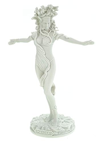 Kremers Schatzkiste Alabaster Figur Medusa 30cm Skulptur weiß Gottheit Zeus Perseus