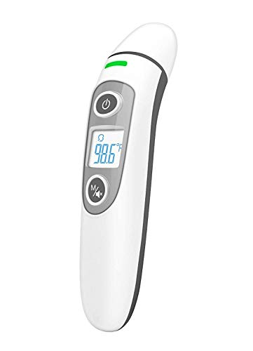 Thermometer Forehead and Ear - Strongest-and-Heaviest Duty Medical Thermometer - for Baby Kids and Adults - Infrared Digital Thermometer with Fever Indicator Accurate Fast Readings