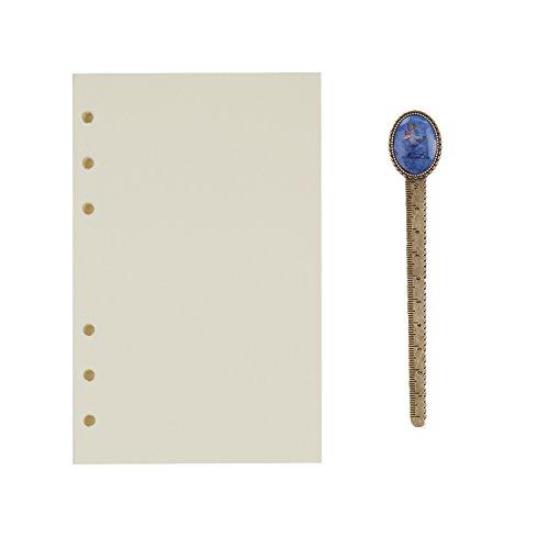 A6 6-Ring Binder Planer Refill Papier für Tagebuch Notizbuch Ringbuch Reisetagebuch Blanko Papier Nachfüllpapier Notizpapier Ersatzblätter Büro Schule Schreiben (100 Blätter)