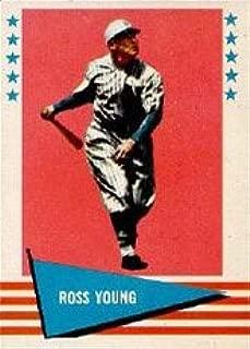 1961 Fleer Baseball Greats (Baseball) card#154 Ross Young of the New York Giants Grade Very Good