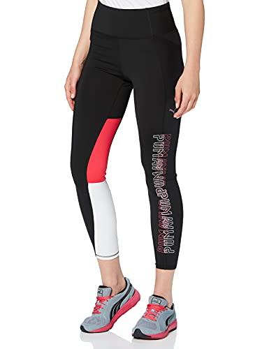 Puma Feel It 7/8 Tight Version Mallas Deporte, Mujer, Negro Black, L