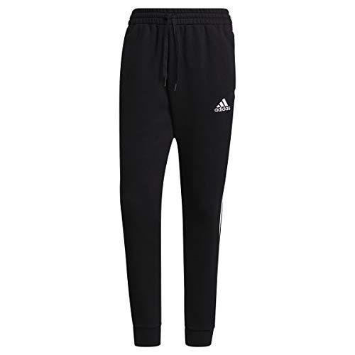 adidas M Cut 3S PT Pants, Black/White, X-Large Mens