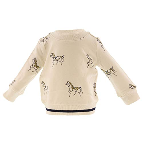 Janie and Jack Horse Print Pullover Active Sweatshirt - 18-24 Months - White