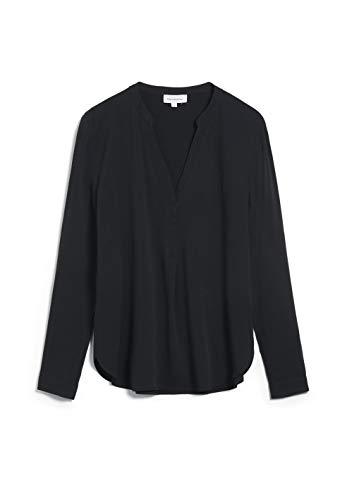 ARMEDANGELS CEYLAAN - Damen Bluse aus LENZING™ ECOVERO™ L Black Bluse Langarm Relaxed Fit