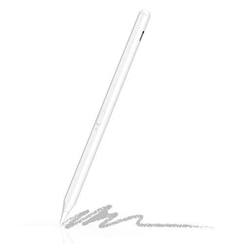 FRG Penna per iPad PRO 2020 (11 12,9 Pollici), Active Pen con Palm Rejection Compatibile con Apple iPad 7a Generazione, iPad 6a   iPad PRO 3a   iPad Air di Terza iPad Mini 5a Generazione (White)