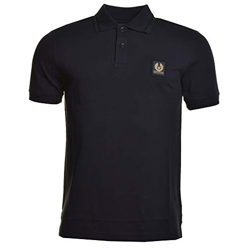 Belstaff Kurzarm Poloshirt schwarz Large