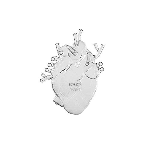 LOVE IN BLOOM GLASS HEART VASE