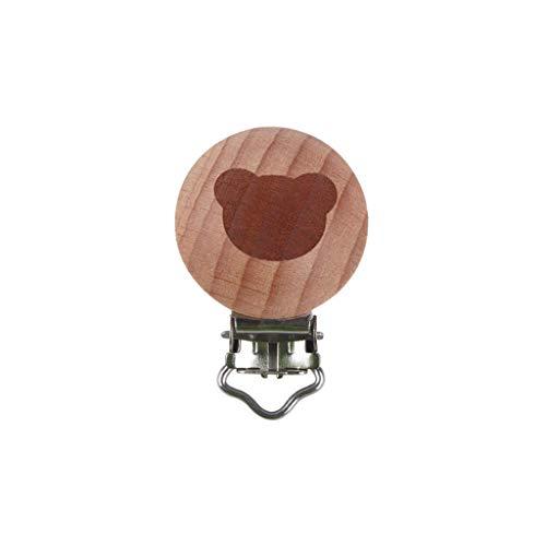 Y-POWER Clips de madera de haya chupete bebé bebé chupete mordedor seguridad titular DIY chupete cadena juguetes accesorios
