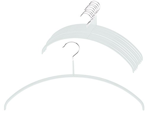 MAWA by Reston Lloyd Euro Series Non-Slip Space Saving Clothes Hanger for Shirts Dresses Style 40P Set of 10 White