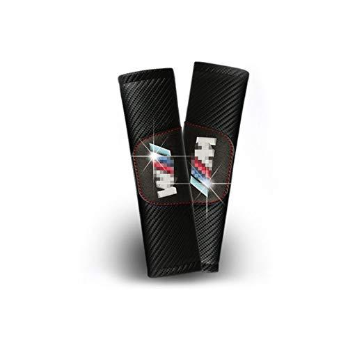 Funda para cinturón de seguridad personalizable de fibra de carbono para hombro, cojín para///M 3 m (2 unidades)