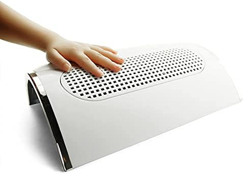 KADS Colector de polvo de uñas Ventilador de succión - Poderosa máquina de aspiración de uñas Herramientas de secador de manicura con 2 bolsas de recolección Práctico equipo de limpieza de sa
