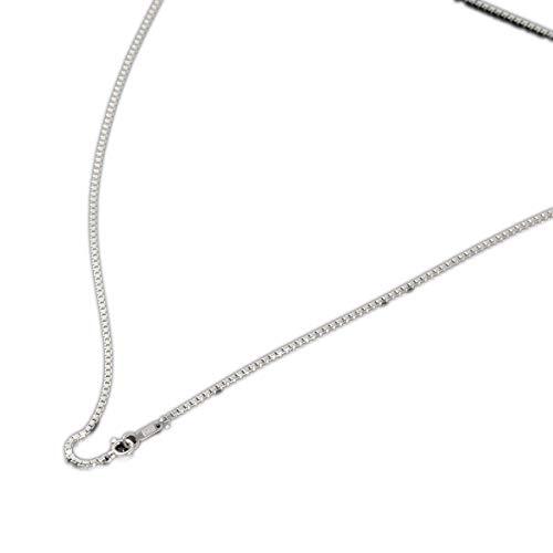 [ルビイ] プラチナ Pt850 ベネチアン チェーン ネックレス 幅1.4mm 長さ60cm