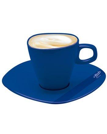 Alfredo Milchkaffeetassen mit Untertassen blau 'Walküre' 6 Stück