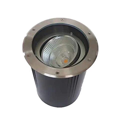 GAXQFEI Ground Lights Adjustable Angle Walkover Led Lights Ip67 Waterproof Ac85-265V Garden, Patio, Stone Wall, Trees,White Light,10W